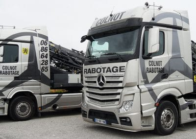 Marquage camions Colnot Rabotage